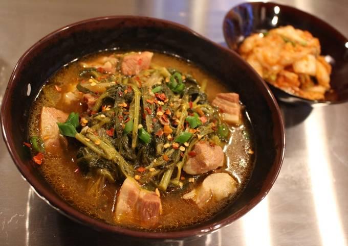 Dwenjang Guk (Spicy, Hearty Korean Style Miso Soup)