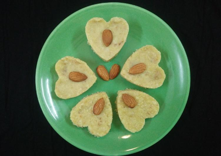 Recipe of Super Quick Homemade Homemade kalakand (Heart shape)
