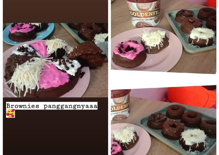 Brownat (brownies donat)bisa kukus&panggang