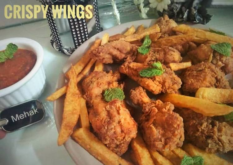 Easiest Way to Prepare Yummy Crispy Fried wings