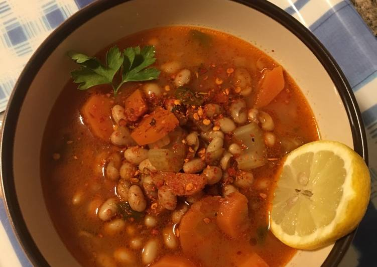 Navy bean soup (φασολάδα)🇬🇷