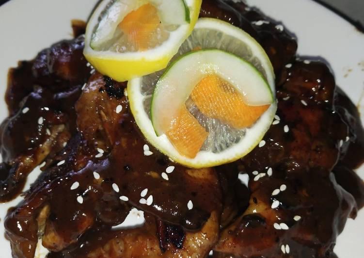 Chicken Lemon Grill Black pepper sauce - velavinkabakery.com