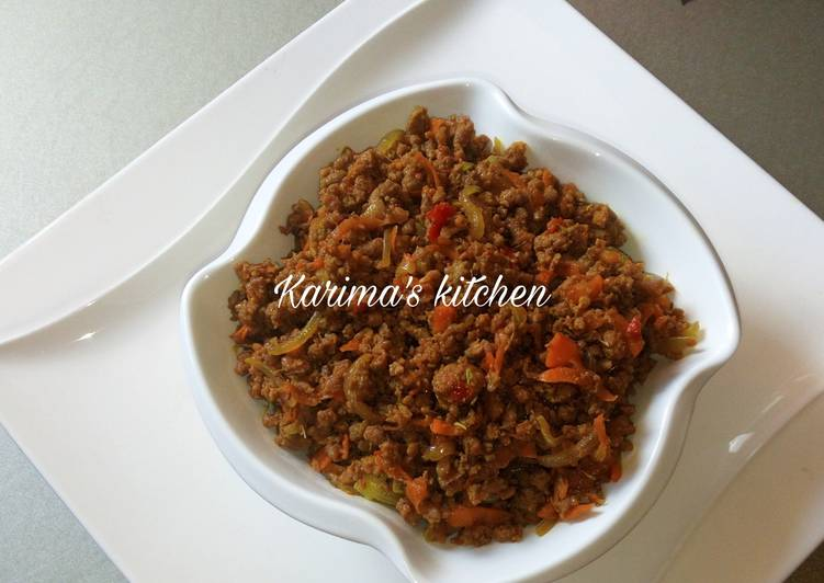 Spicy minced meat