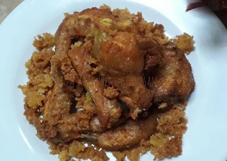 Ayam goreng kremesan simpel