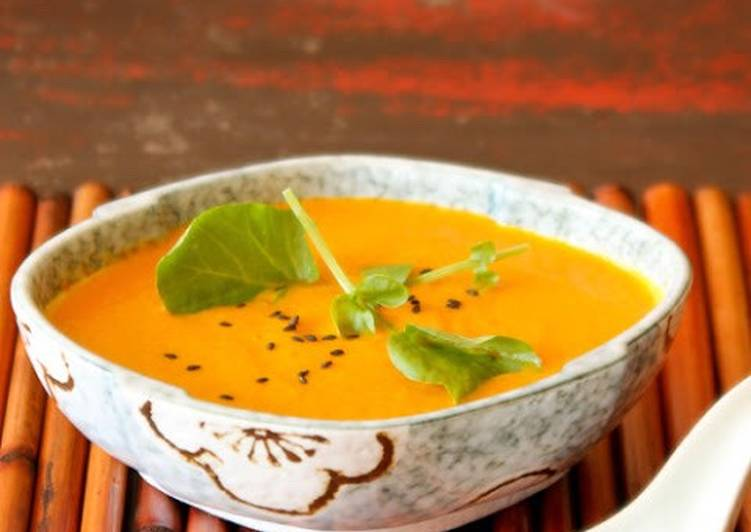 Recipe of Any-night-of-the-week Carrot and Coconut Soup with Ginger, Chilli and Coriander