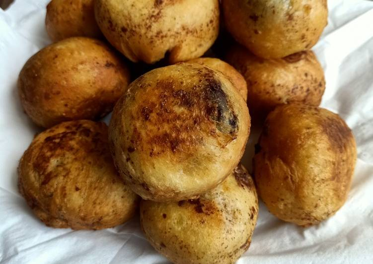 Donat kentang kampung coklat lumer Ovomaltine(tanpa ulen)