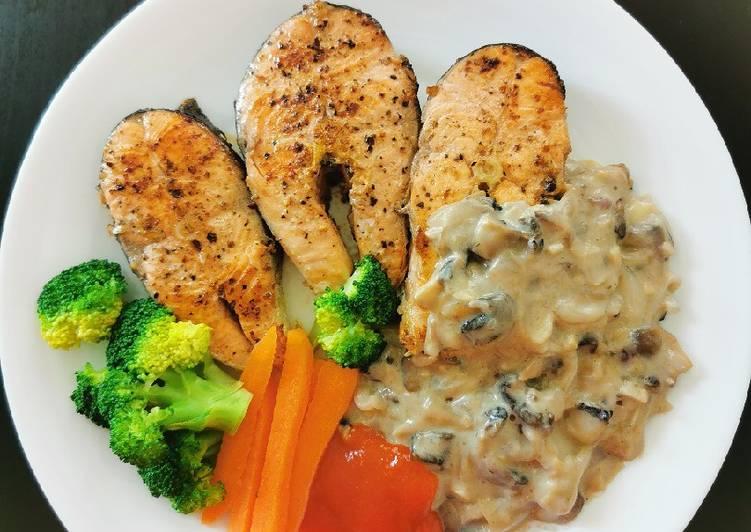 Resep Salmon grill mantab yang Lezat
