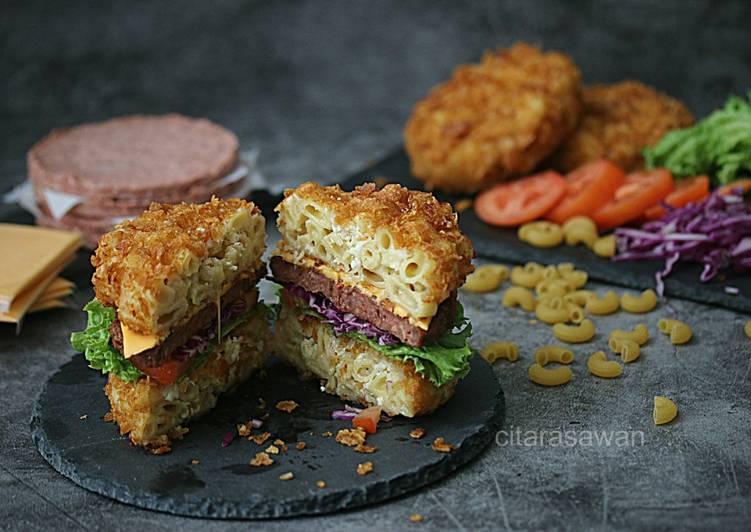 Mac & Cheese Hipster Burger #DaporAzahZahra