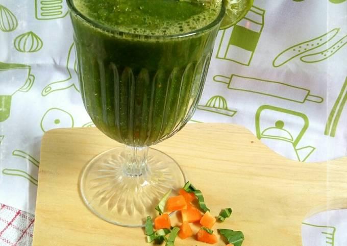 Jus Sehat (Apel, Wortel, Sawi sendok, Jeruk nipis dan Vitamin C)