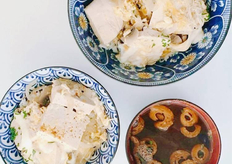 Le moyen le plus simple de Cuire Appétissante Recette Japonaise : Tofu-don végétarienne à la façon Oyakodon