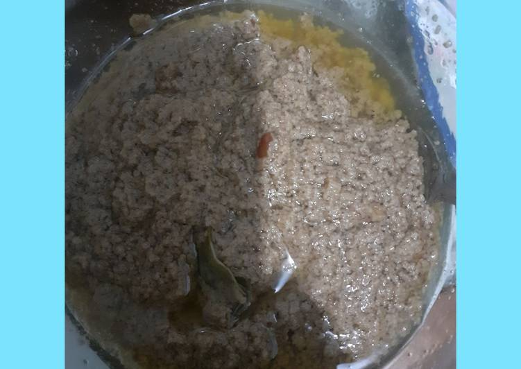 resep cara membuat Bumbu kacang untuk siomay batagor dan cilok