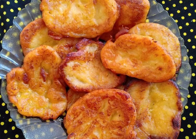 Pisang goreng crispy di luar lembut di dalam!