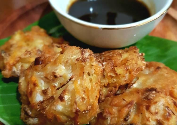 Ote - ote (bakwan sayur) sambal petis