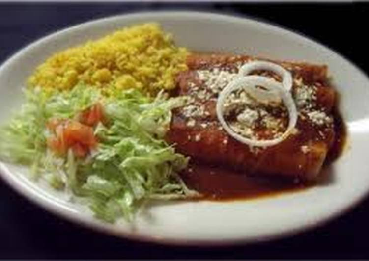 Enchiladas de mole oaxaqueño