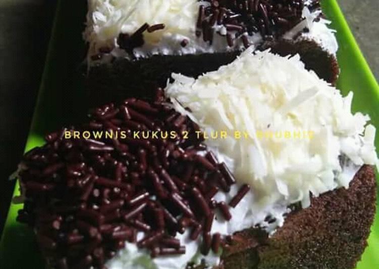 Brownis kukus 2 telur irit by rhubhie