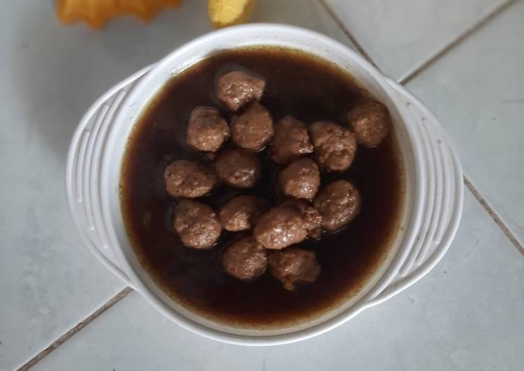 Kerni daging kuah Rawon MpAsi 1y+