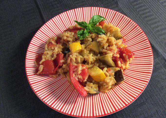 Riz aux légumes au curry