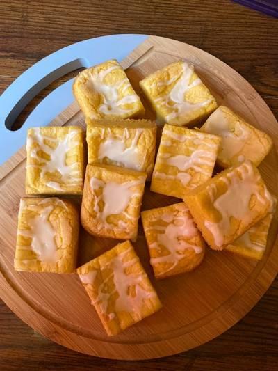 Lemon Cake Mix Brownies