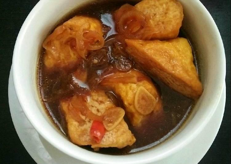 Resep Tahu Kuah Kecap oleh familahaq - Cookpad