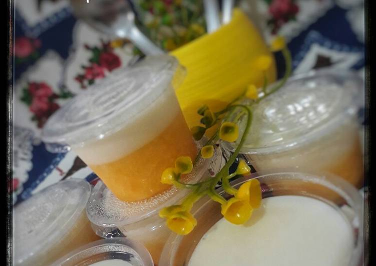 Puding Susu Sirup Jeruk