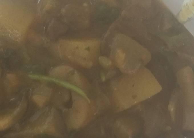 Step-by-Step Guide to Prepare Jamie Oliver Mushroom, Aubergine and Potato Curry
