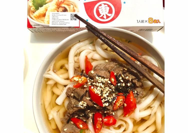 Niku Udon (Higashimaru Soup)