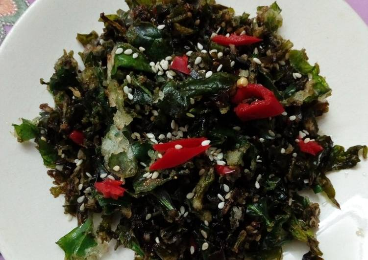 Crispy crunchy spinach - Laurie G Edwards