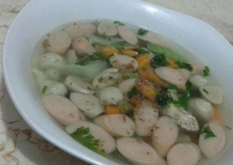 Cara Memasak Sayur sop bakso sosis Anti Gagal!