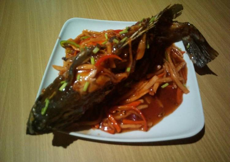 Recipe of Super Quick Homemade Sweet 'n Sour Grouper Fish