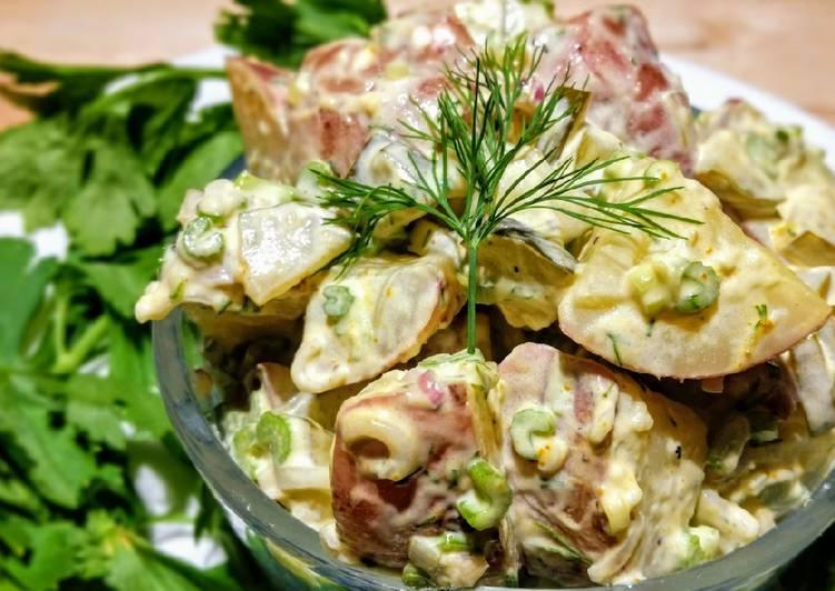 Recipe of Ultimate Creamy dill pickle potato salad