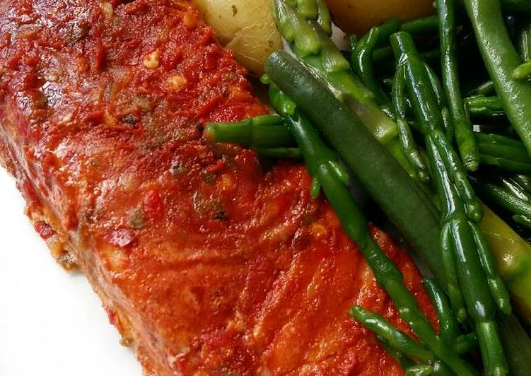 Recipe of Favorite Vickys Hot & Spicy Chipotle Chilli Salmon, GF DF EF SF NF