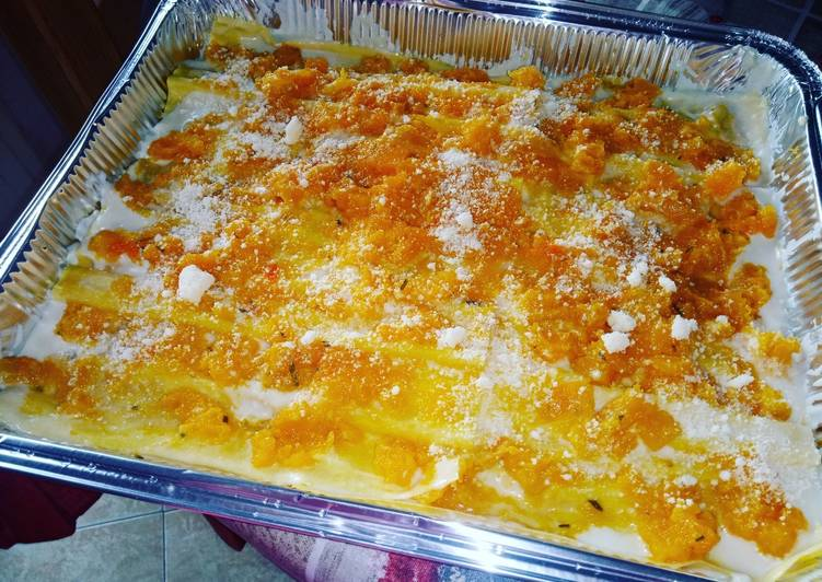 How to Cook Tasty Lasagna with pumpkin and provolone