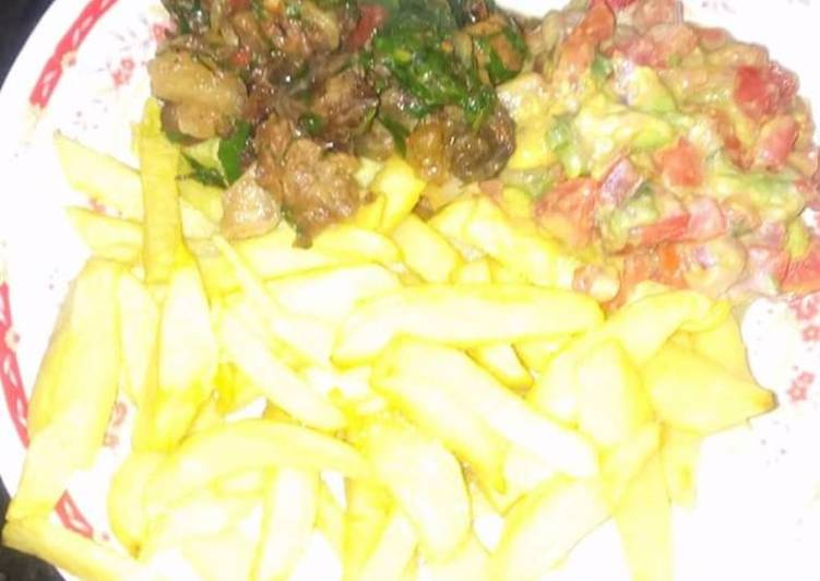 Chips, Pork and Guacamole