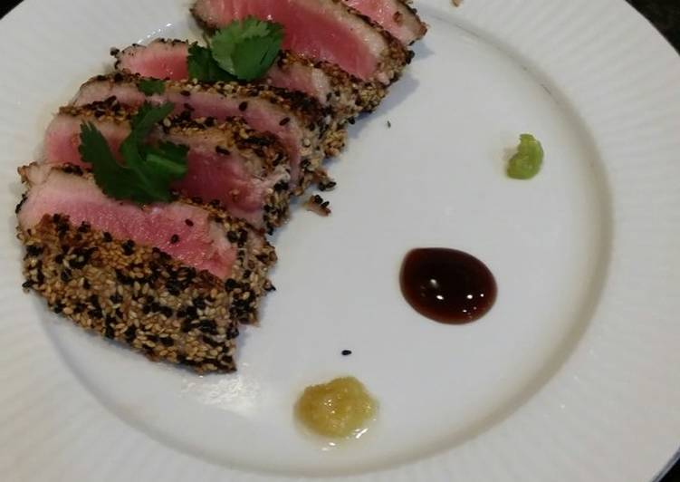 How to Cook Delicious Brad's sesame crusted seared ahi tuna