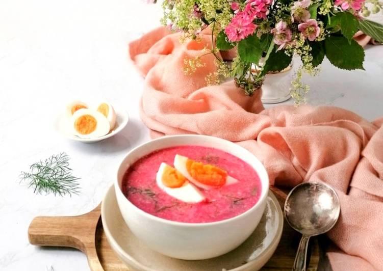 Polnische Rote Bete Suppe - Botwinka
