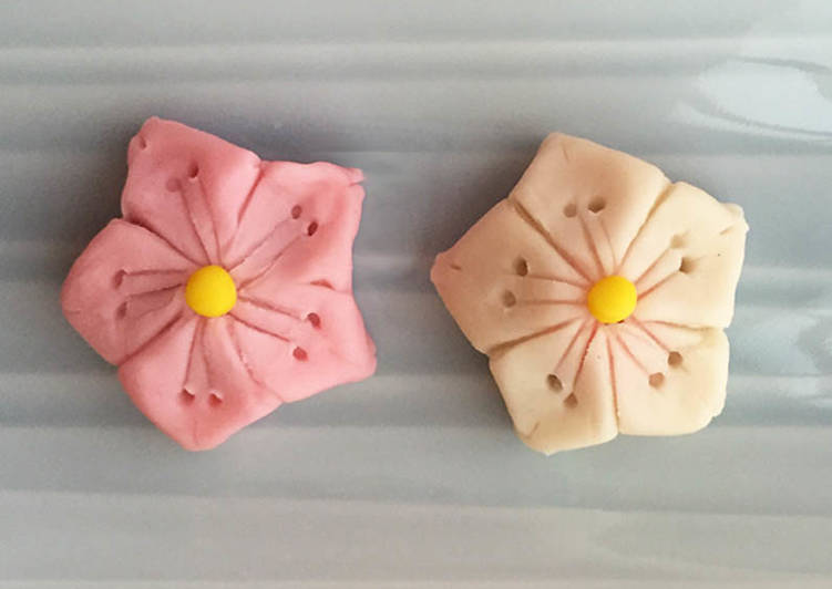 "Nerikiri Wagashi: ""Sakura (fleurs de cerisier)"""