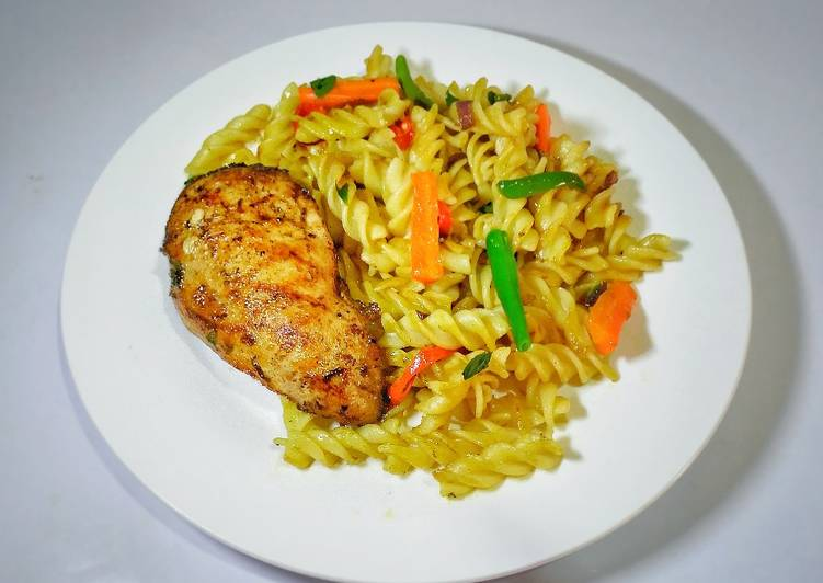 Simple Way to Prepare Any-night-of-the-week Fusilli pasta and chicken