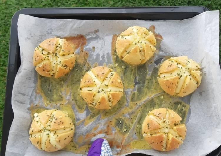 Korean garlic cheese bread mini