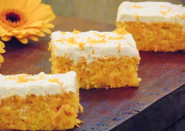 Recipe of Perfect Carrot & Orange Polenta Cake