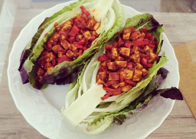 Tofu Paprika Lettuce Taco