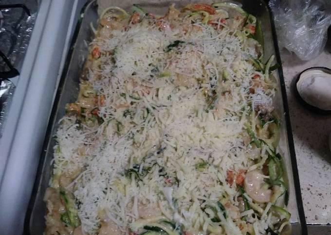 Easy Crawfish Zucchini Bake