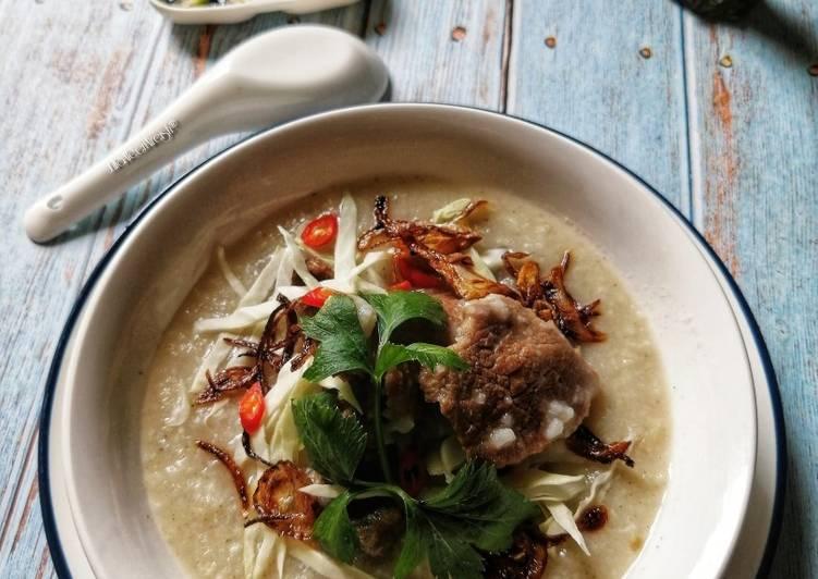 Bubur Nasi Berempah Campur Daging - resepipouler.com