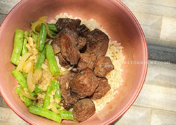 Saikoro Beef with Butter Rice