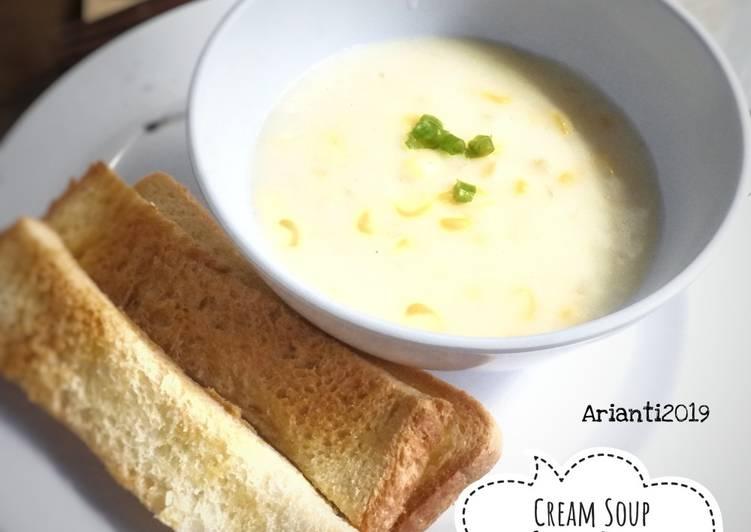 Resep Sup krim jagung & garlic bread Paling Enak
