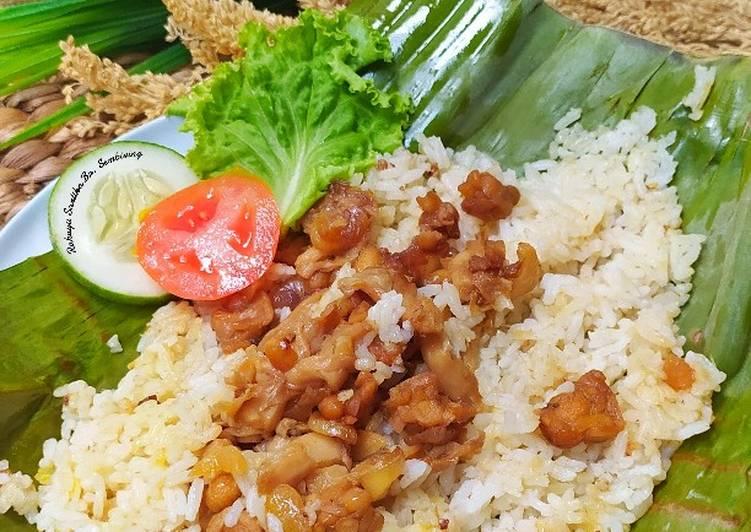 Nasi Bakar Tempe Jamur