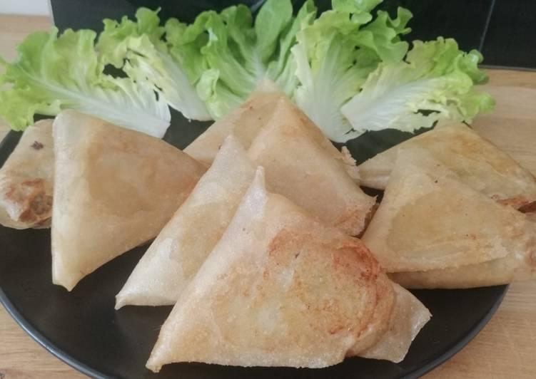 Façon la plus simple Cuisiner Savoureux Samoussas thon aubergines poivrons