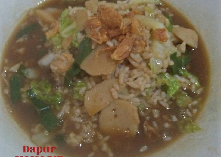 Sego godhog (nasi rebus) khas bantul yogya