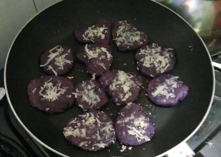 Cookies ubi ungu teflon