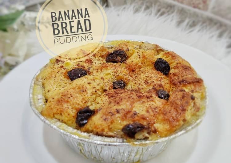 Banana Bread Pudding~ no mixer, no ribet
