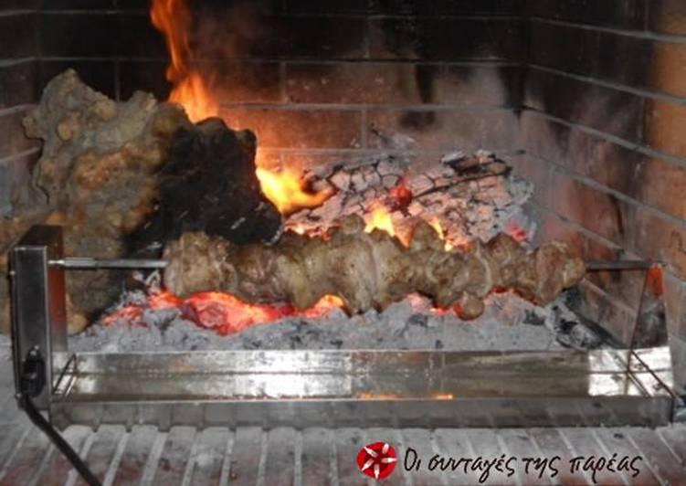 Kontosouvli in the fireplace
